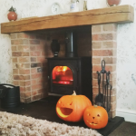 Getting into the #Halloween spirit. #pumpkin carved by the kids with daddy's help @stovaxgazco #stockton #family #cosycarvings #stovaxgazco #getcreative