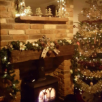 A very happy Heatland Stoves customer feeling #festivefireside and we love this @stovaxgazco Huntington 35 with gothic doors #heatlandstovesltd #stove #festive #Christmas #xmas #decor #homedecor #northeast #stovaxgazco