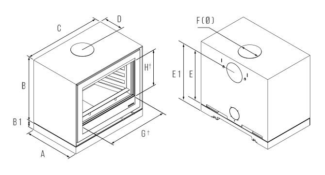 Freestanding Elise 680 Dimensions