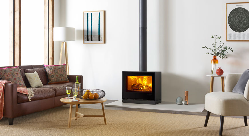Stovax's Elise Glass 680 Freestanding Wood Burning