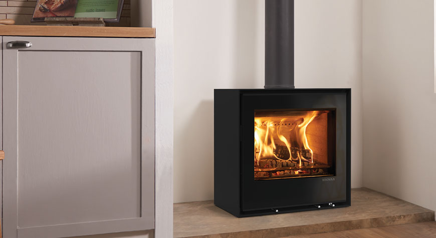 Stovax's Freestanding Elise 540 Glass Wood burning