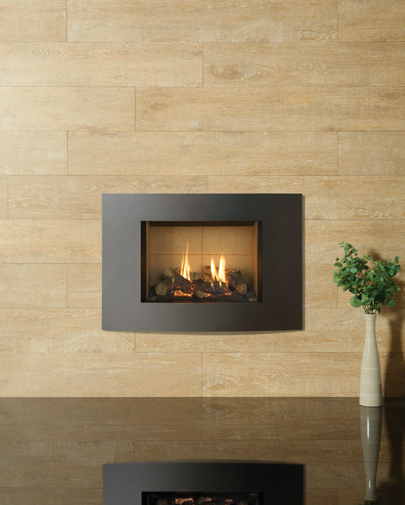 Multi fuel or wood burning stove - Gazco Riva2 500 Verve Xs Gas Fire In Graphite With Vermiculite Lining