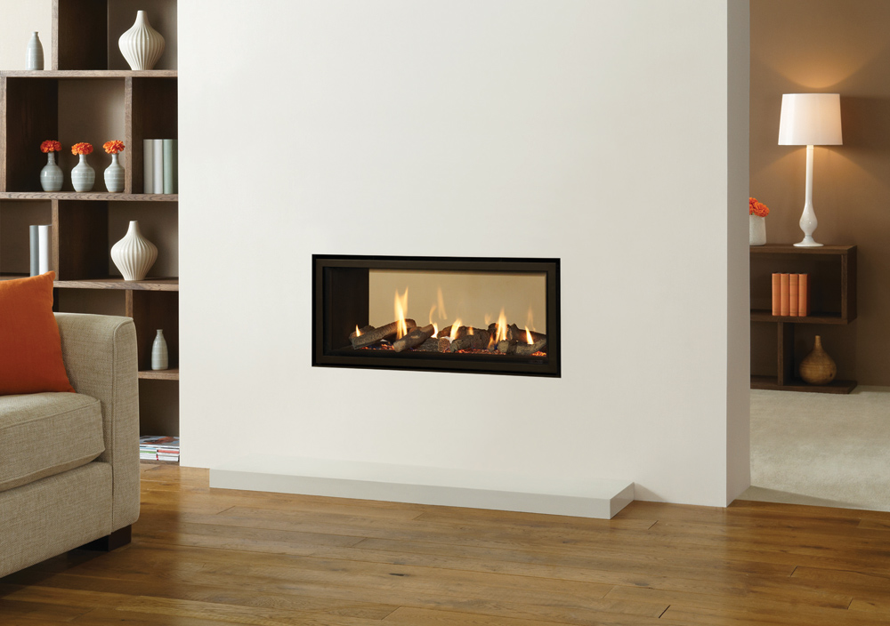 Two Sided Electric Fireplace