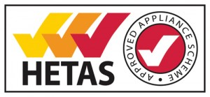 HETAS accredited logo for wood burning stoves