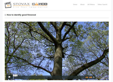 How to identify good firewood video from Stovax.tv