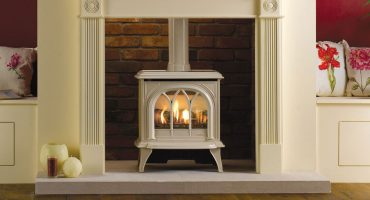 Lighten your living room with the Ivory Huntingdon gas range