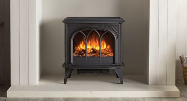 Upgrade your living room with a traditional electric stove