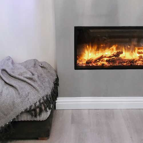 Jade & Luke, Skope 85R electric fire, Yorkshire Grey Home