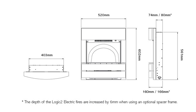Logic2 Electric Progress Dimensions