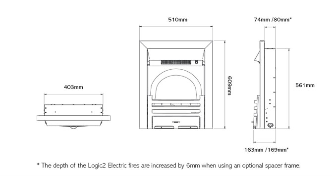 Logic2 Electric Chartwell Dimensions