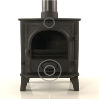 Open the Airwash and Primary Air Controls fully in your Multi-fuel stove