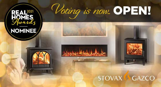 Stovax & Gazco nominated for Real Homes Awards!
