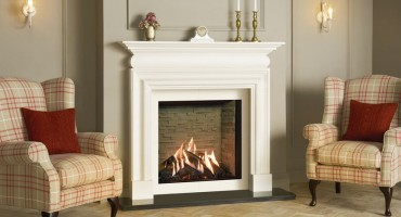 Hearth mounted gas fires