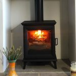 """Stovax Sheraton 5 Multi-fuel stove – """"Snug as a bug with our new Stovax"""""""