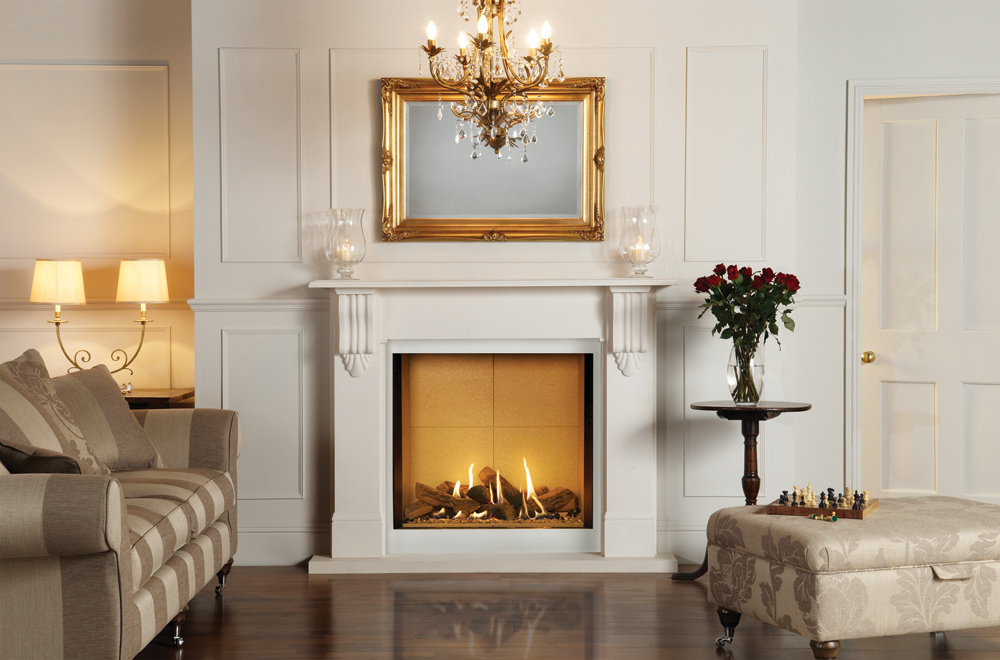 Riva2 800 Stone Mantel Gas Fires