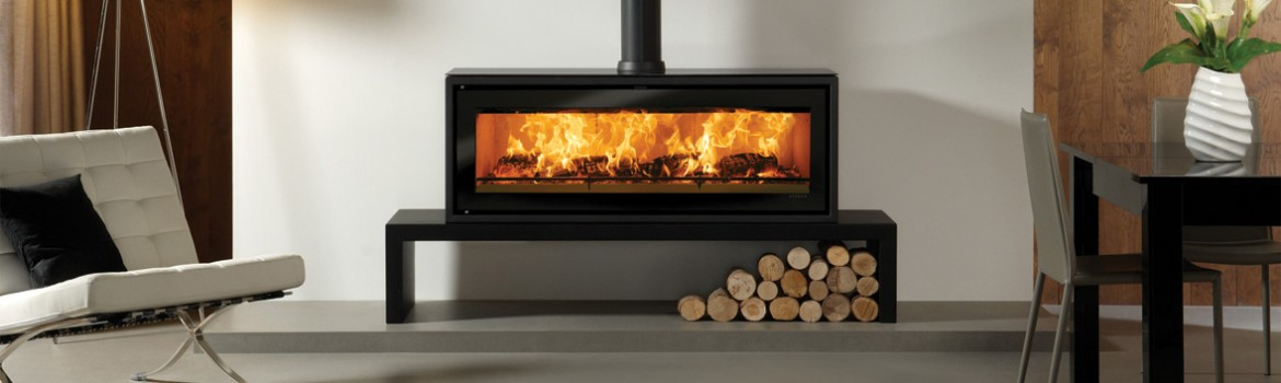 Impressive freestanding wood burning fires