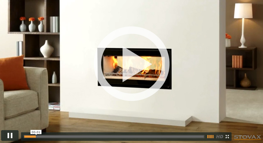 Studio Duplex Inset Wood Burning Fires