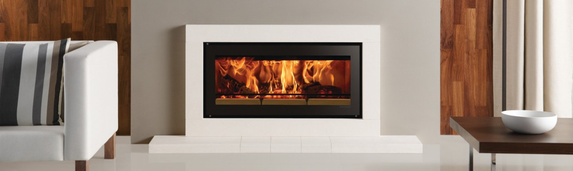 Contemporary Natural Stone Wood Burner Fireplaces – Stovax Riva Studio Sorrento