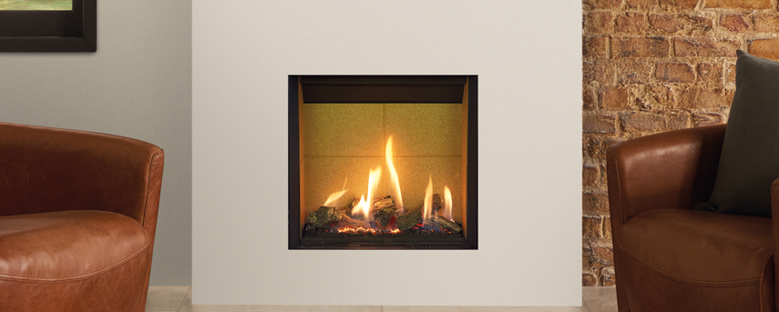 Riva 2 500HL Slimline Edge with highly realistic log fuel effect