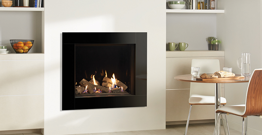 Riva2 750HL Gas Fire with Icon XS Frame