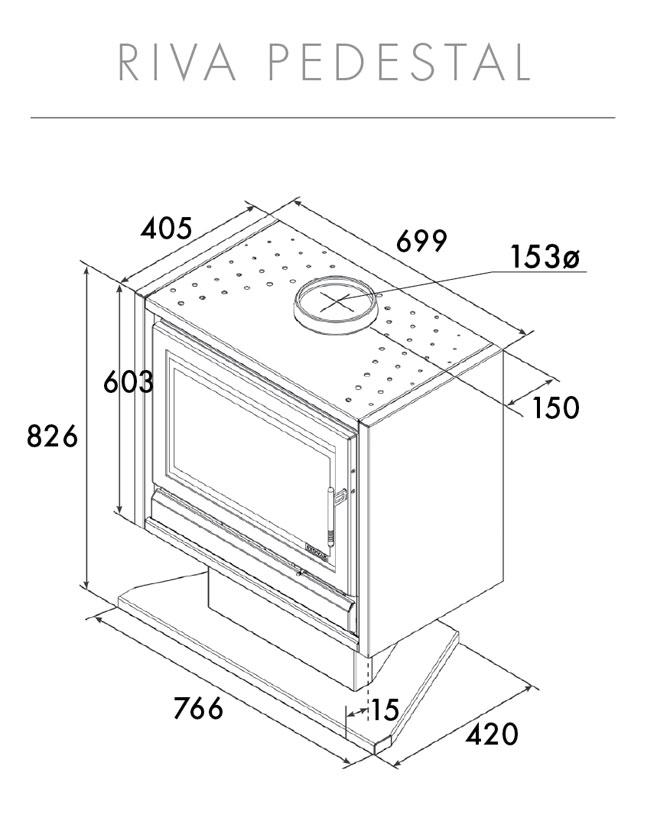 Riva F66 Pedestal Dimensions