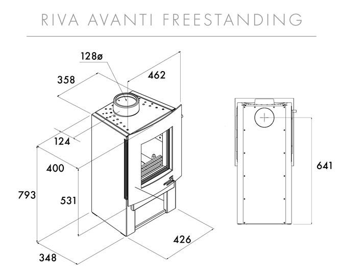 Riva F40 Avanti Midi Dimensions