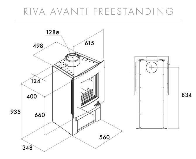 Riva F55 Avanti Midi Dimensions