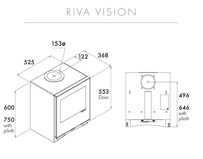 Riva Vision Medium Dimensions