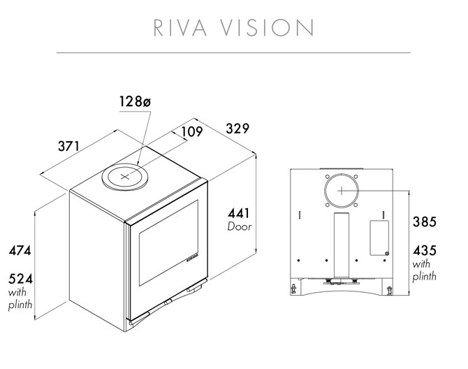 Riva Vision Small Dimensions