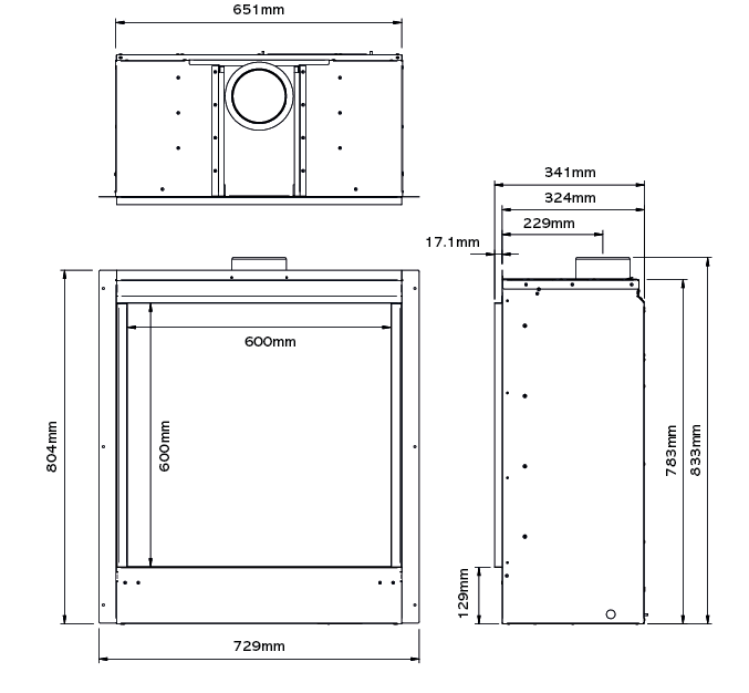 Riva2 600HL Icon XS Dimensions