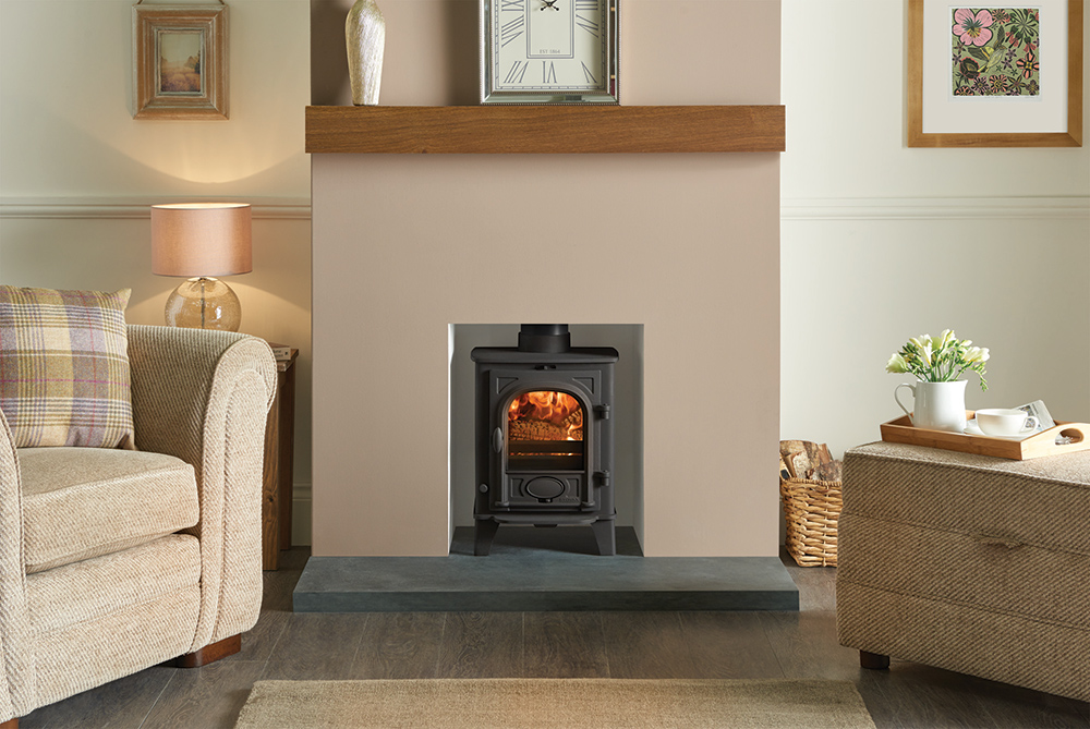 Small High Wood Burning Stove Dining Room