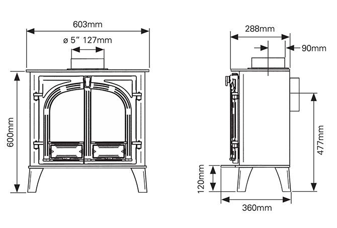 Stockton 5 Wide Dimensions