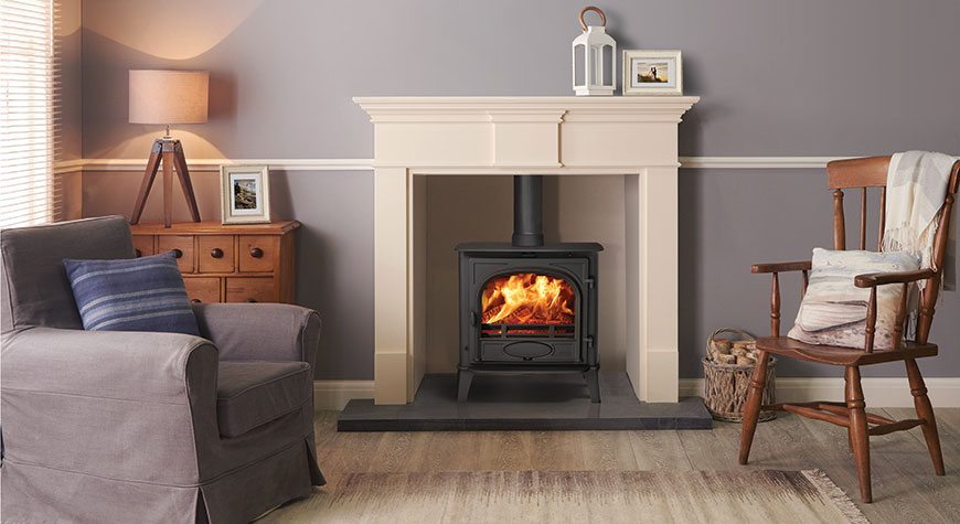 Stovax Stockton 5 Wide Fixed Grate Wood Burning and Multi-fuel Stove