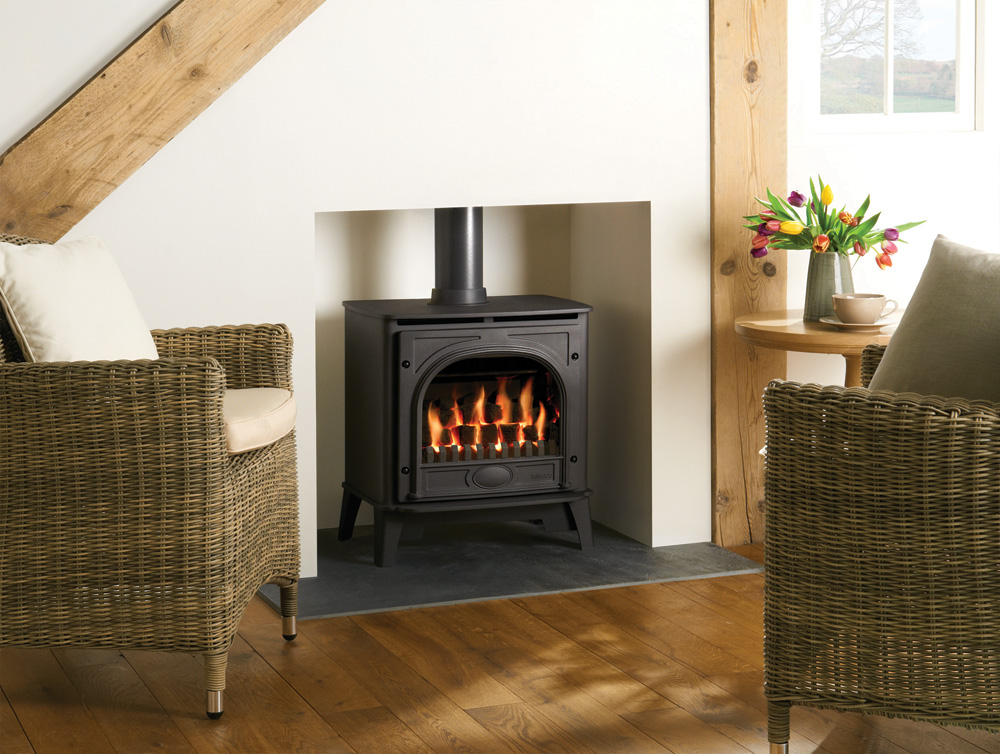 Log Burner Effect Fires Part - 25: Gazco Medium Stockton Gas Stove, Conventional Flue With Coal-effect Fire