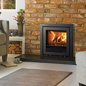 Stovax Elise 540 Multi-fuel burning logs with 3-sided Profil frame