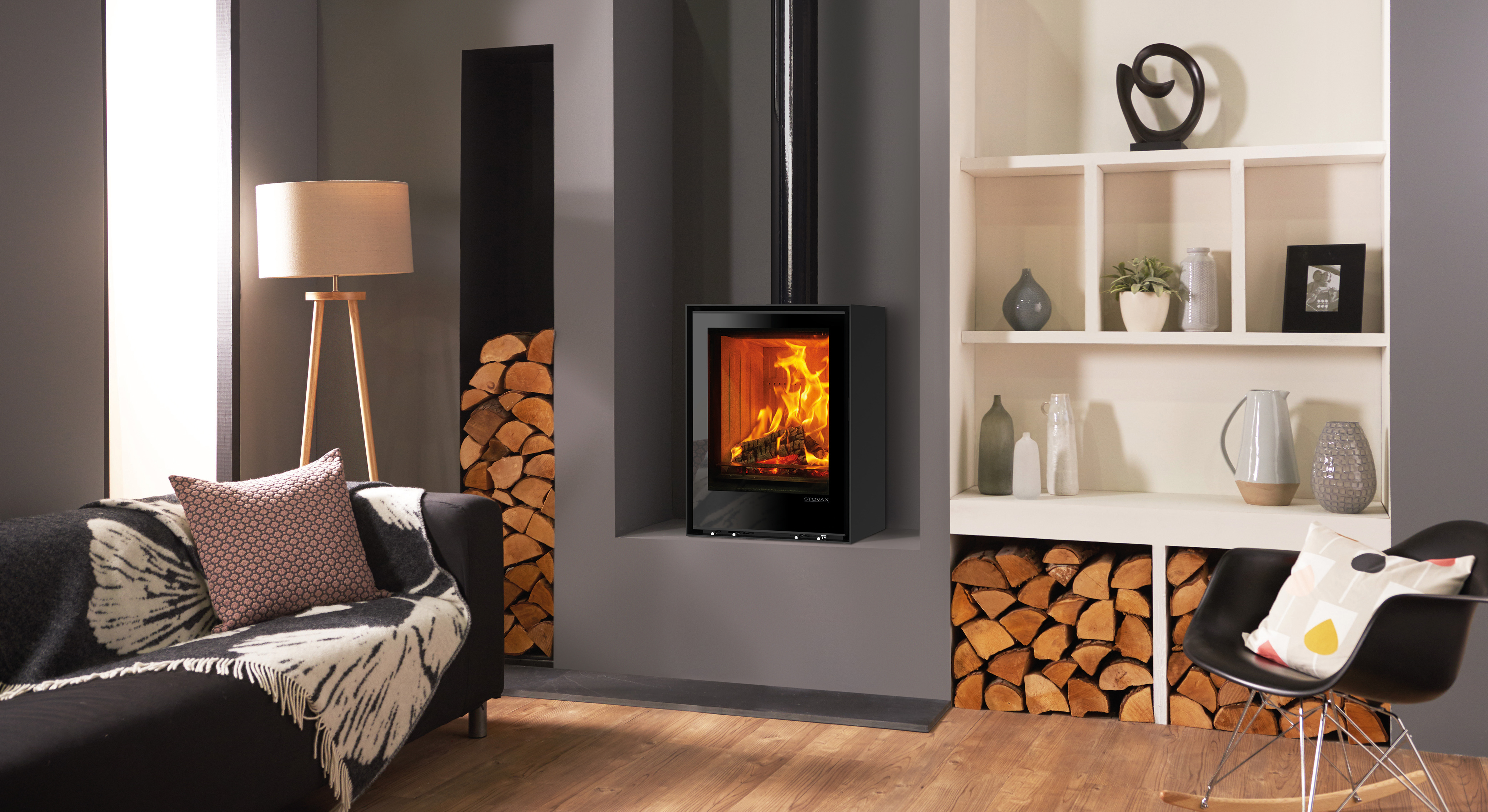 Freestanding Elise 540T Wood Burning and Multi fuel Stoves Stovax