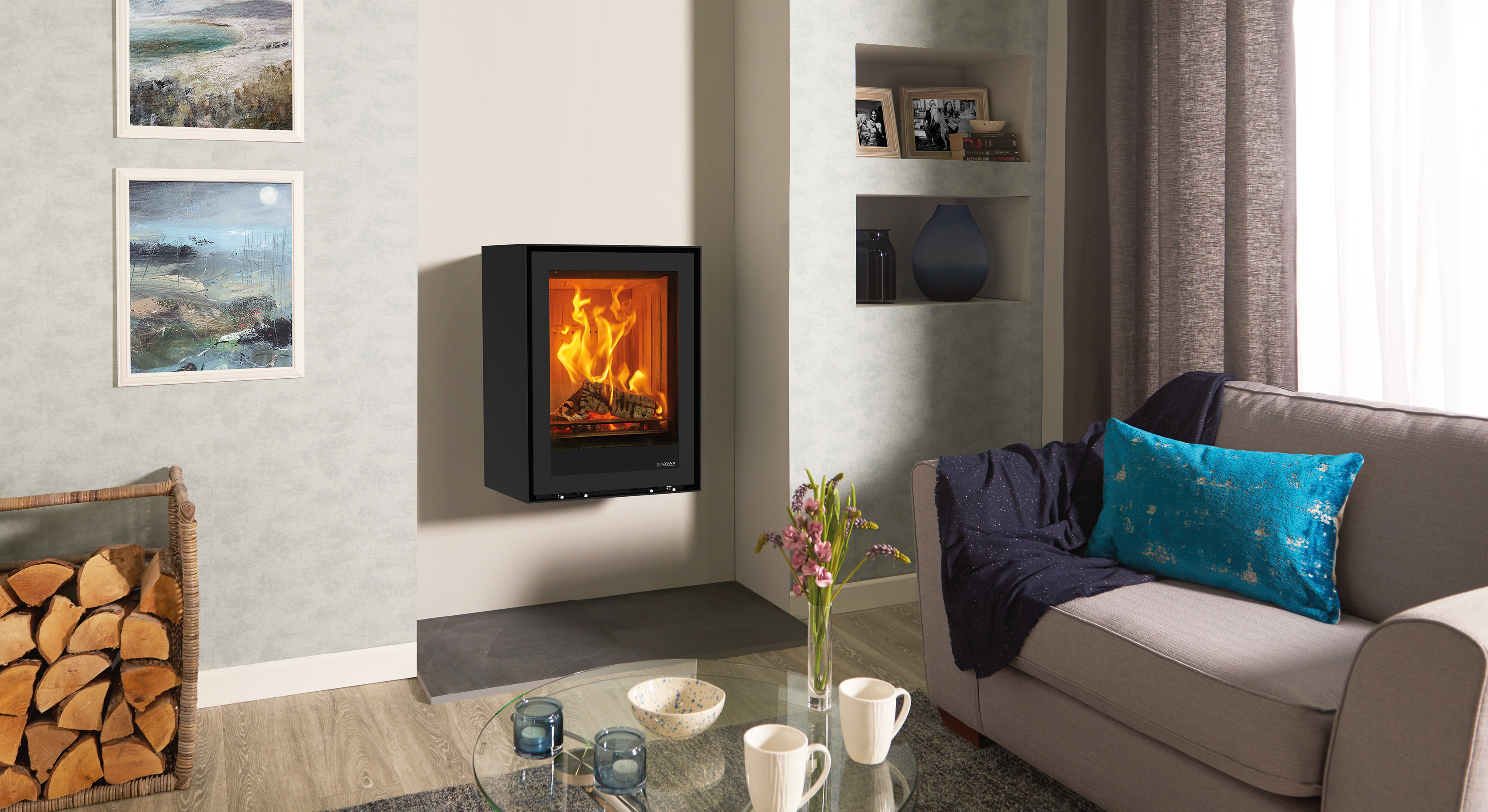 freestanding elise 540t wall mounted wood burning and multi fuel