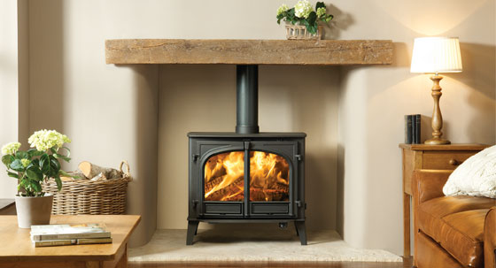 A free standing wood burning boiler such as the Stockton 14HB is eligible for a reduced VAT rate.