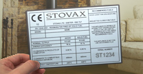 Stovax data badge