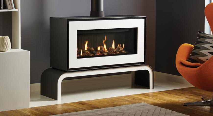 studio 2 freestanding gas fires gazco contemporary. Black Bedroom Furniture Sets. Home Design Ideas