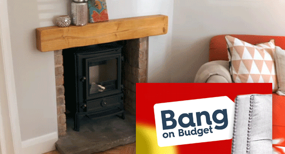 Stovax features in Bang on Budget in retro-styled room, and sophisticated drawing room.