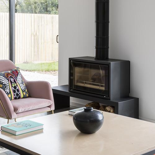 TG Designer Homes, Stovax Studio wood burner, Fun Family Living Space