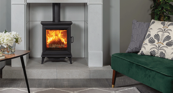 Get the Look – Opulent living room for traditional stove