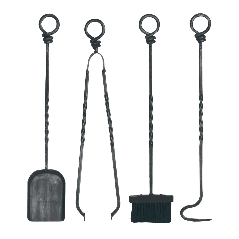 Ring Top Wrought Iron Tool Set