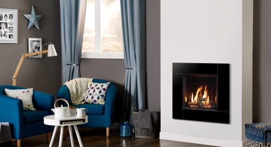 A small gas fire with big style