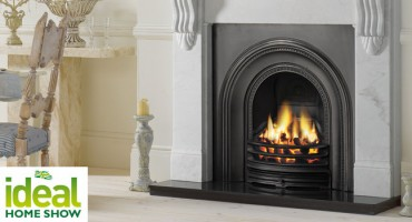 Stovax wood burning fireplace on display at the Ideal Home Show!