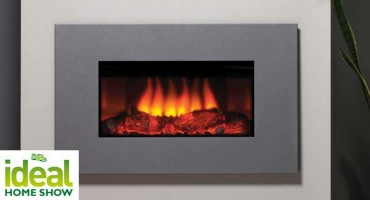 Electric Gazco fire at Ideal Home Show