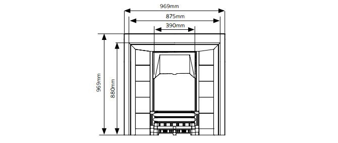 Victorian Tiled Fireplaces Dimensions