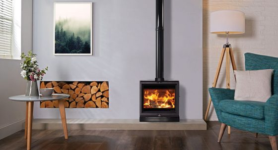 All-new wide format wood burning and multi-fuel stove