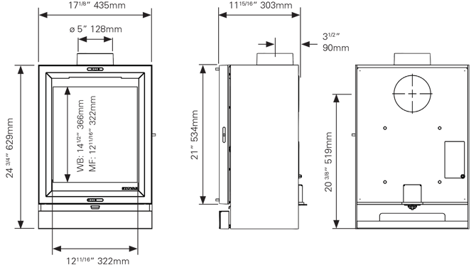 View 5T Dimensions